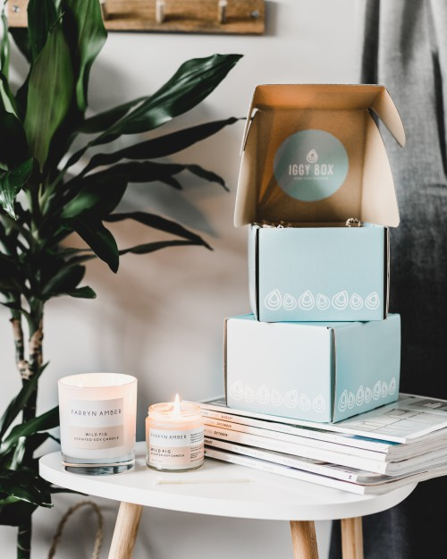 Subscription box & candles