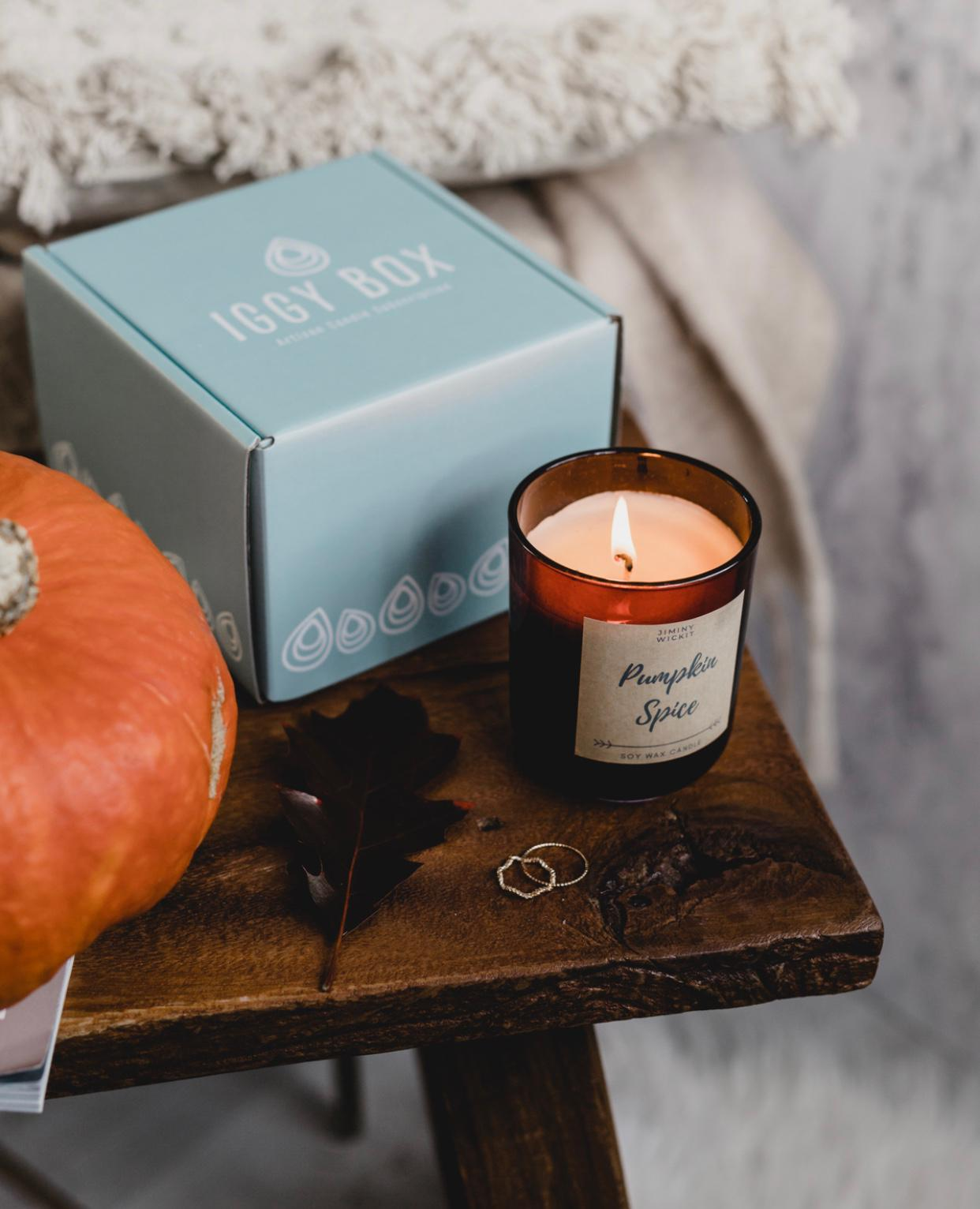 Scented candle - Pumpkin table